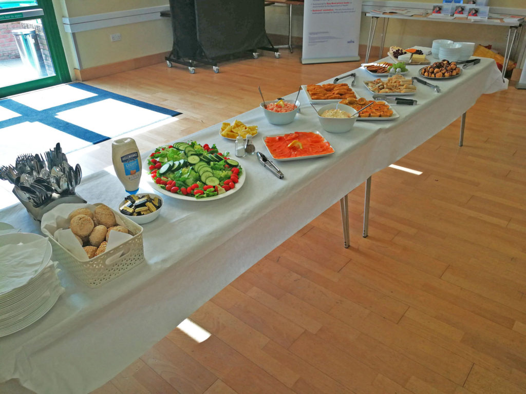 Buffet catering available - hire our kitchen or let our team prepare your food
