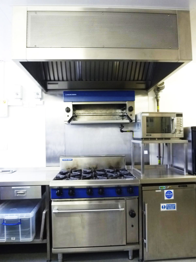 Commercial oven, grill and hob plus microwave